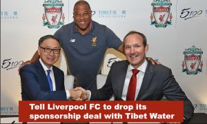 LIVERPOOL FC SIGNS DANGEROUS DEAL WITH TIBET WATER
