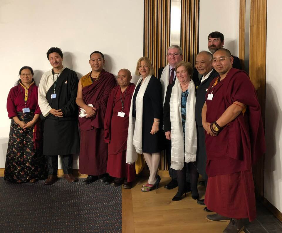 Tibet Society Attends Parliamentary Reception to Mark 'The Future of Tibet, Heartland of Asia' Exhibition at the Scottish Parliament