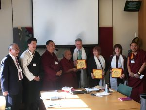 Four Member Tibetan Delegation Brief Members of the All-Party Parliamentary Group for Tibet